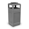 Commercial Zone Products 42-Gallon Square Waste Container with Ashtray Dome Lid CZP 73300399
