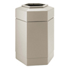 System-clean: Commercial Zone Products - 30-Gallon Hexagon Waste Container