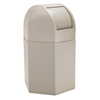 Commercial Zone Products 45-Gallon Hexagon Waste Container with Dome Lid CZP 73790299