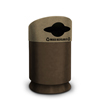 Commercial Zone Products Galaxy Series 30-gallon Mixed Recyclable Recycler Brown Base/Lunar Sand Brown Lid CZP 7531433999