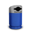 Commercial Zone Products Galaxy Series 30-gallon Mixed Recyclable Recycler Blue Base/Comet Gray Lid CZP 7531434099