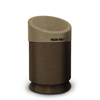 Commercial Zone Products Galaxy Series 30-gallon Waste Receptacle Brown Base and Lunar Sand Brown Lid CZP 7531443999