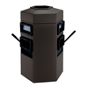 Commercial Zone Products Hexagon Extra Large Double-Sided Waste Container & Windshield Service Center CZP 755424