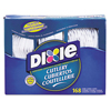 cutlery and servingware: Dixie® Combo Pack, Tray w/ White Plastic Utensils