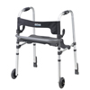 Drive Medical Clever Lite LS Rollator Walker w/Seat & Push Down Brakes 10233