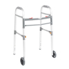 "Walkers: Drive Medical - Two Button Folding Universal Walker with 5"" Wheels"