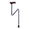 "canes & crutches: Drive Medical - Lightweight Adjustable Blue Daisy Folding Cane w/""T"" Handle"