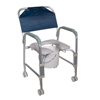 bedpans & commodes: Drive Medical - Lightweight Portable Shower Chair Commode with Casters