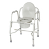 Drive Medical Steel Drop Arm Bedside Commode w/Padded Arms 11125KD-1