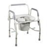 bedpans & commodes: Drive Medical - Steel Drop Arm Bedside Commode w/Padded Seat & Arms