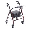 Drive Medical Mimi Lite Flame Red Rollator Walker 543