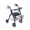 Drive Medical DLite Blue Rollator Walker w/8 Wheels & Loop Brakes 750NB