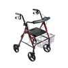 Drive Medical DLite Red Rollator Walker w/8 Wheels & Loop Brakes 750NR