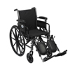 Wheelchairs: Drive Medical - Cruiser III Lightweight Wheelchair w/Flip Back Removable Adjustable Desk Arms & Elevating Leg Rest
