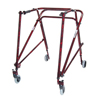 Walkers: Drive Medical - Adult Nimbo Rehab Lightweight Flame Red Posterior Posture Walker