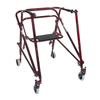 Walkers: Drive Medical - Adult Nimbo Rehab Lightweight Flame Red Posterior Posture Walker w/Seat