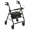 Drive Medical Black Rollator Walker w/Fold Up & Removable Back Support & Padded Seat R726BK