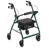 Drive Medical Green Rollator Walker w/Fold Up & Removable Back Support & Padded Seat R726GR