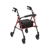 Drive Medical Adjustable Height Red Rollator w/6 Wheels RTL10261RD