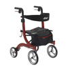 Drive Medical Nitro Euro Style Red Rollator Walker RTL10266