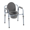 bedpans & commodes: Drive Medical - Folding Bedside Commode w/Bucket & Splash Guard