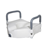 medical equipment: Drive Medical - Elevated Raised Toilet Seat w/Removable Padded Arms