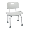 Stoko-gray: Drive Medical - Grey Bathroom Safety Shower Tub Bench Chair w/Back