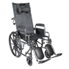 Wheelchairs: Drive Medical - Silver Sport Reclining Wheelchair w/Detachable Desk Length Arms & Elevating Leg rest