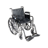 Wheelchairs: Drive Medical - Silver Sport 2 Wheelchair w/Detachable Desk Arms & Swing Away Footrest