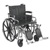 Wheelchairs: Drive Medical - Sentra Extra Heavy Duty Wheelchair w/Detachable Desk Arms & Elevating Leg Rest
