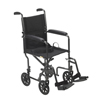 Wheelchairs: Drive Medical - Lightweight Steel Transport Wheelchair w/Fixed Full Arms