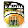 Rechargeable Batteries: Duracell® Coppertop® NiMH pre-charged Rechargeable AAA Battery