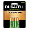 aaa batteries: Duracell® Rechargeable NiMH Batteries with Duralock Power Preserve™ Technology