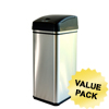 waste receptacle and can liners: iTouchless - Deodorizer Filtered 13 Gallon Stainless Steel Touchless Trash Can