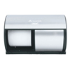 Paper Product Dispensers Bathroom Tissue Dispensers: Georgia Pacific - Professional Compact® Coreless Brushed Steel Side-by-Side Double Roll Tissue Dispenser