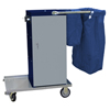 Janitorial Carts, Trucks, and Utility Carts: Geerpres - Escort® Powder Coated Microfiber Housekeeping Cart w/Double Bag Handle