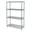 wire shelving & steel shelving: Nexel Industries - Poly-Green™ Shelving Starter Unit