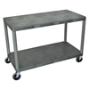 Luxor Industrial Wide 3-Shelf Cart LUX HEW335-G