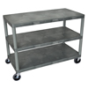 Luxor Industrial Wide 2-Shelf Cart LUX HEW385-G