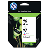 Hewlett packard: Hewlett Packard 96, (C9353FN) Black / HP 97, Tri-Color 2-pack Original Ink Cartridges