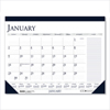 calendars: House of Doolittle™ Two-Color Monthly Desk Pad Calendar with Large Notes Section