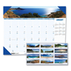 calendars: House of Doolittle™ Photographic Monthly Desk Pad Calendar