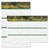 calendars: House of Doolittle™ Earthscapes™ Gardens of the World Reversible/Erasable Yearly Wall Calendar