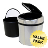 waste receptacle and can liners: iTouchless - 1.5 Gallon Automatic Stainless Steel Touchless Trash Can® TX