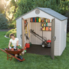 Storage Sheds: Lifetime Products - Sentinel 8' x 7.5' Shed