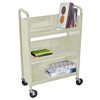 book carts: Luxor - Heavy-Duty Steel Book Truck with 3 Shelves