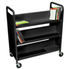 double markdown: Luxor - Heavy-Duty Steel Book Truck with 6 Shelves