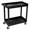 double markdown: Luxor - 2-Shelf High Capacity Tub Cart
