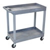 Luxor 2-Shelf High Capacity Tub Cart LUX EC11-G