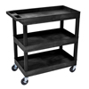 Janitorial Carts, Trucks, and Utility Carts: Luxor - 3-Shelf High Capacity Tub Cart
